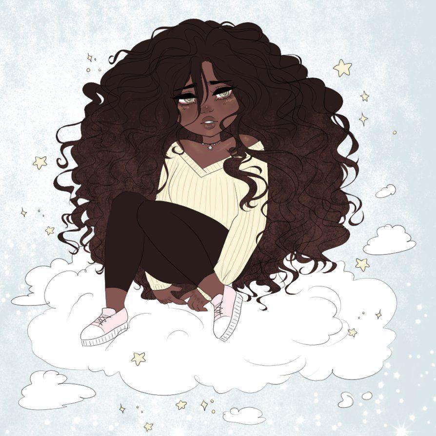 thesei by cueen  Black girl art, Girls cartoon art, Cartoon art