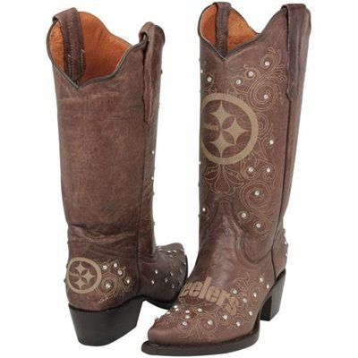 6e4963bbdba steelers cowboy boots | Pittsburgh Steelers Womens Crystal Accent ...