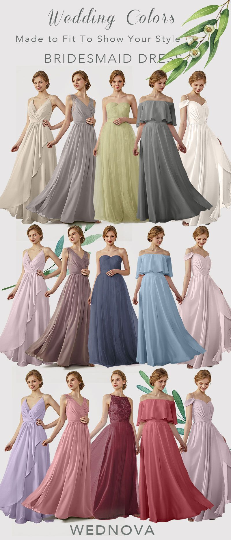 Beautiful bridesmaid dress long chiffon boho dress sweetheart a line