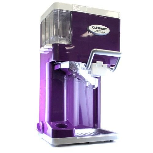 Cuisinart Ice 45 Mix It In Soft Serve 1 1 2 Quart Ice Cream Maker Purple Ice Cream Maker Soft Serve Cuisinart