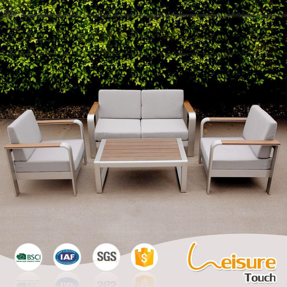 Metal Outdoor Garden Furniture Powder Spraying Aluminum Plastic