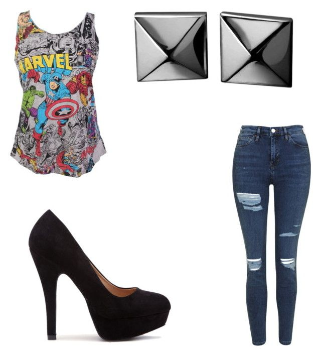 """""""Untitled #16"""" by jodescorc ❤ liked on Polyvore featuring Topshop and Waterford"""