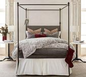 Pottery Barn Antonia Canopy Bed #bedroomremodelideas #graybedroomwithpopofcolor Pottery Barn Antonia Canopy Bed #bedroomremodelideas #graybedroomwithpopofcolor