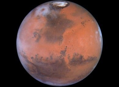 Mars as seen through the Hubble Space #telescope.