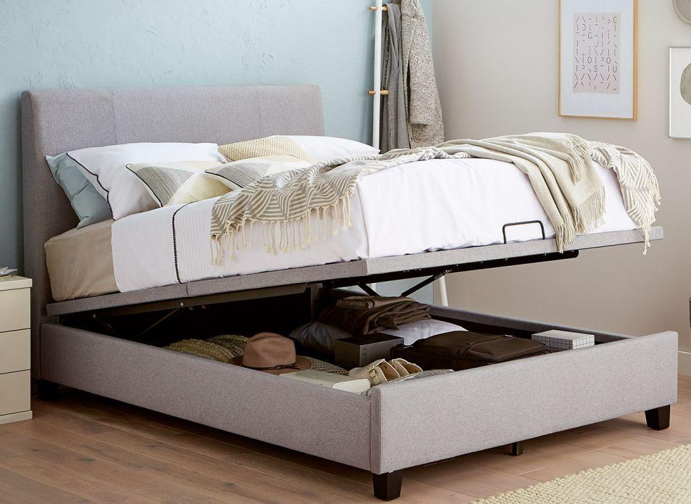 Francis Grey Fabric Ottoman Bed Frame