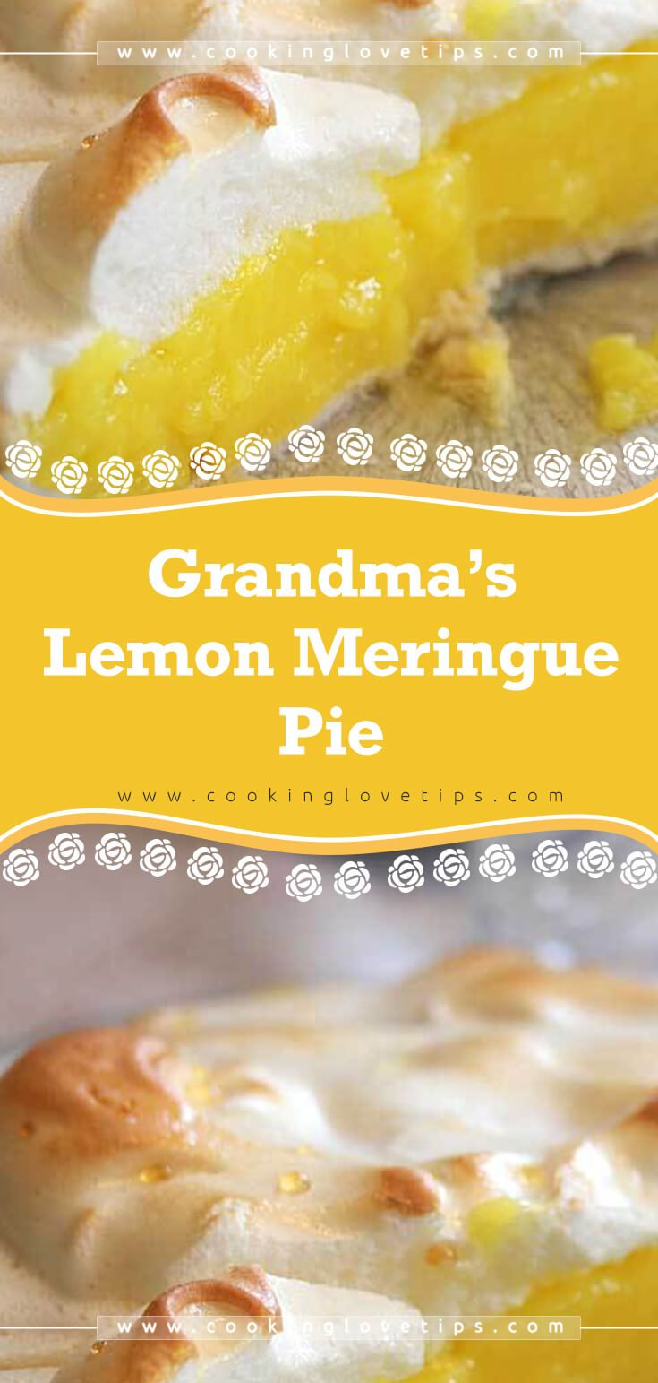 Grandma's Lemon Meringue Pie #lemonmeringuepie