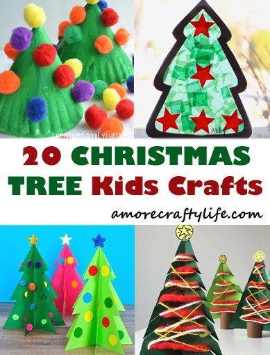 christmas tree kid crafts - christmas kid craft - arts and crafts