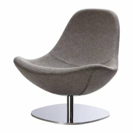 Ikea Tirup Gray Houndstooth Swivel Chair Living Room Furniture