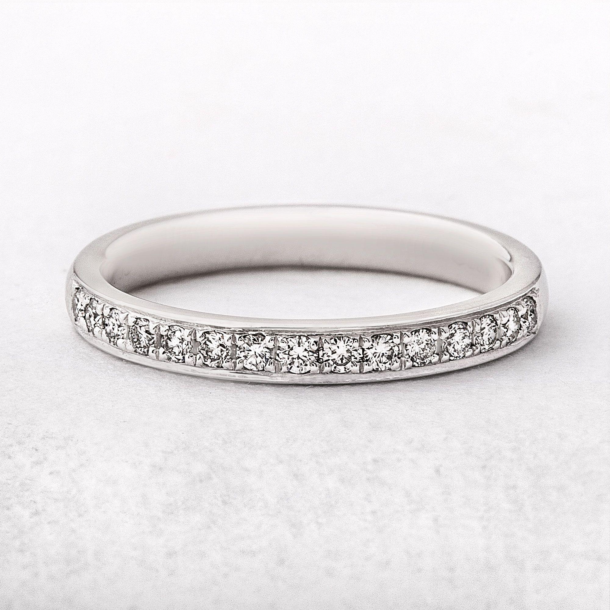 Ladies Wedding Band Platinum Diamond Grain Set Wedding Ring 0 23ct Antique Wedding Rings Rose Gold Engagement Ring Vintage Diamond Wedding Bands