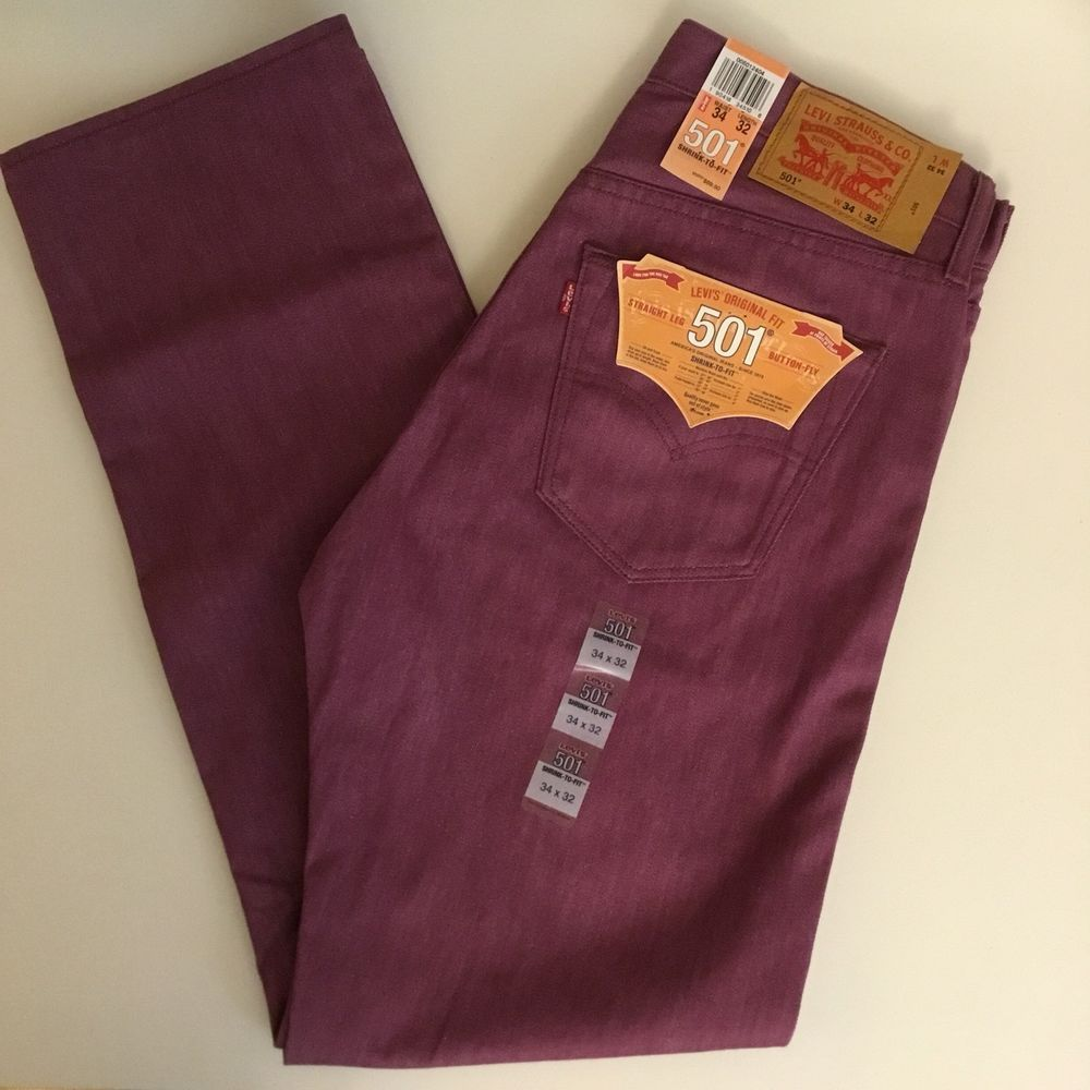 34d7da32 Levis Shrink to Fit Jeans 501 Straight Leg Button Fly Mens 34x32 or 36x32 # Levis #ClassicStraightLeg
