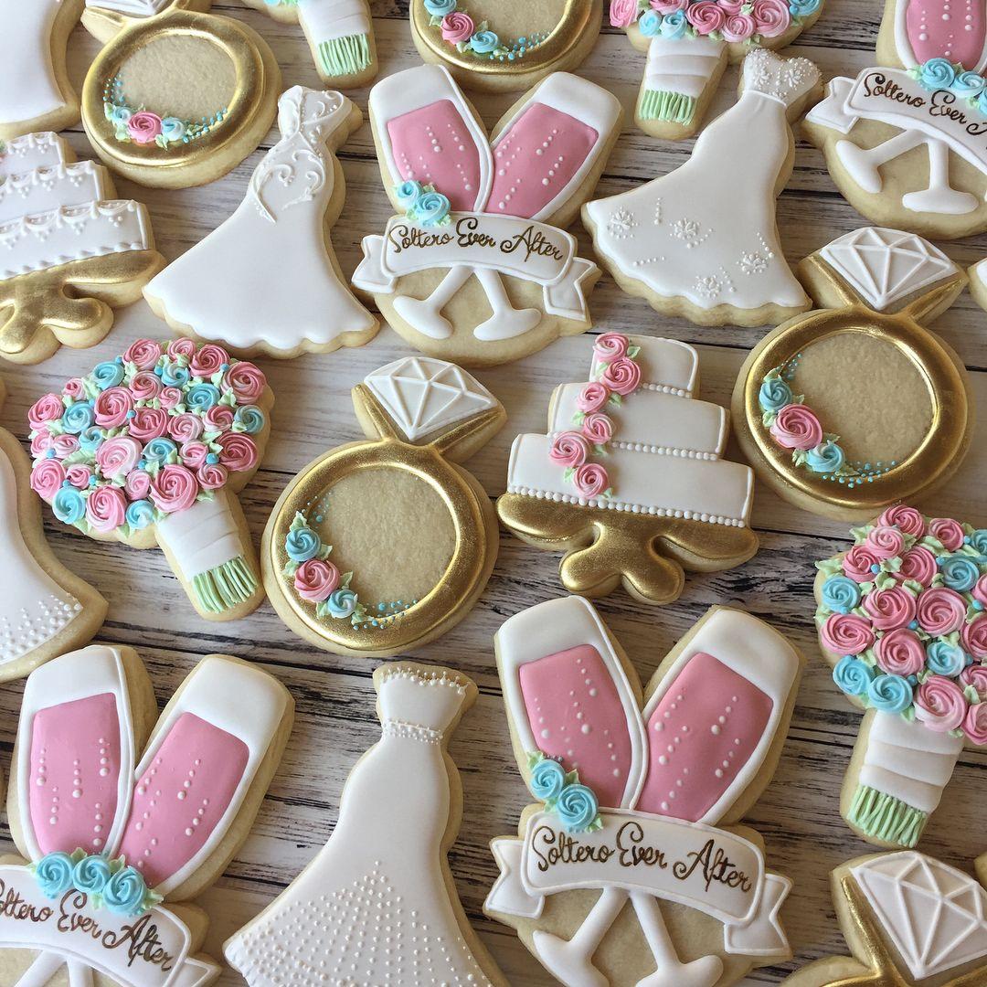 Bridal Shower cookies! 💕💍💐 customcookies colormefrosted