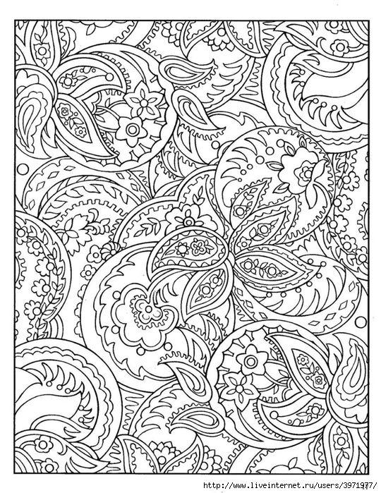 Paisley Designs Coloring Book - Bing Images | Paisley | Pinterest ...