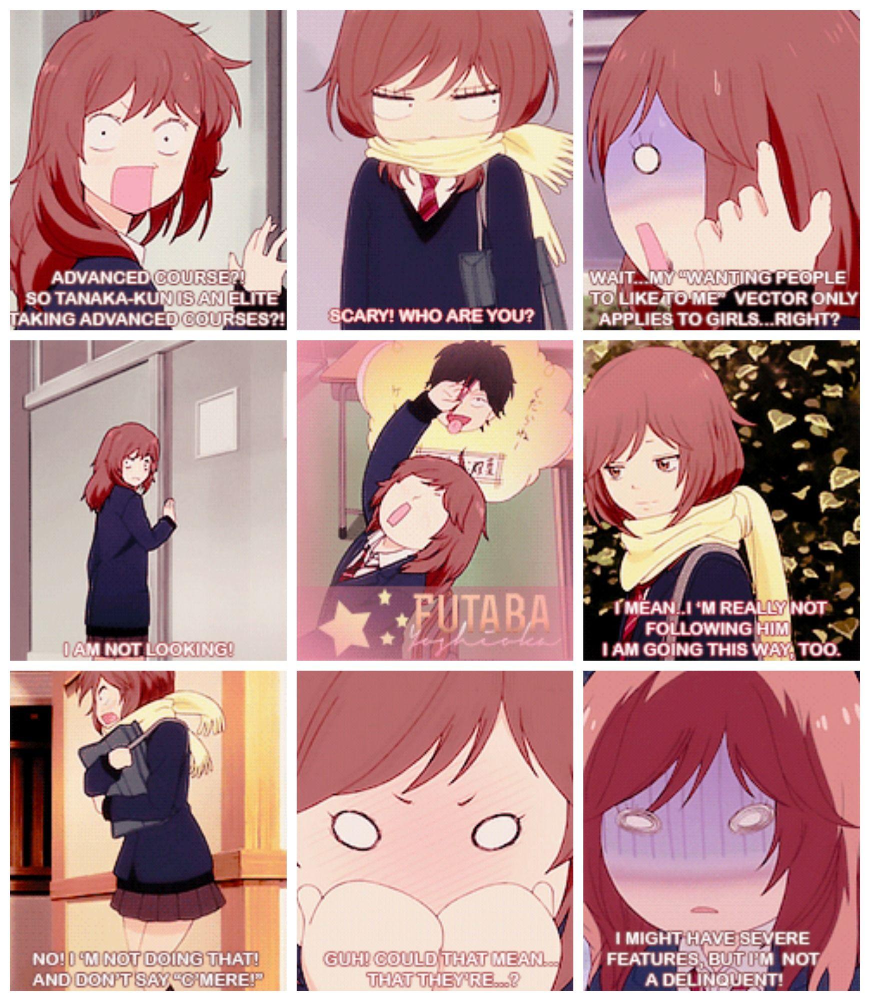 Ao Haru Ride Futaba-chan being a cute dork babe (ノ´ヮ´)ノ*:・゚✧