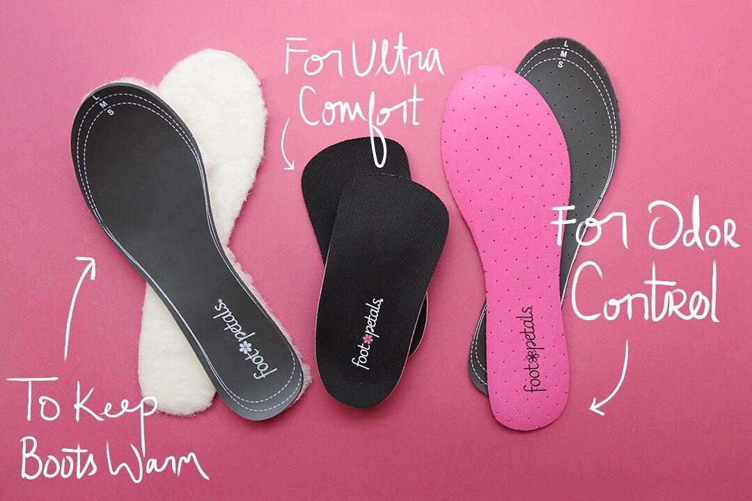 PINK! Foot Petals SOCK-FREE SAVIORS w// Odor Control Washable FULL Insole