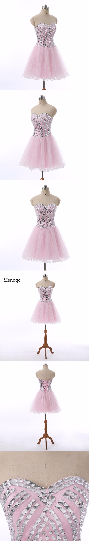 Menoqo cocktail dresses sweetheart neck beaded formal vestidos
