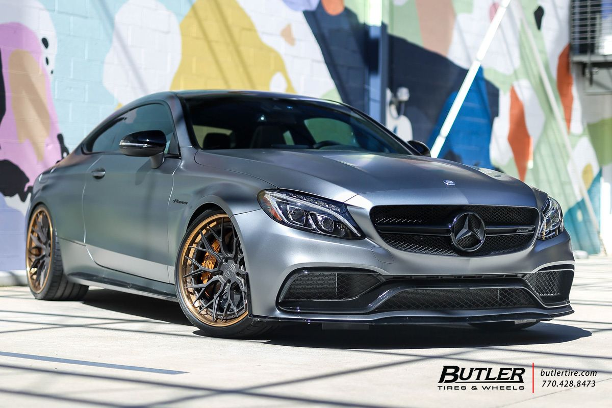 Mercedes Amg Edition 1 C63 S Coupe With 21in Avant Garde Agl43 Wheels Mercedes Mercedes Amg Mercedes Benz