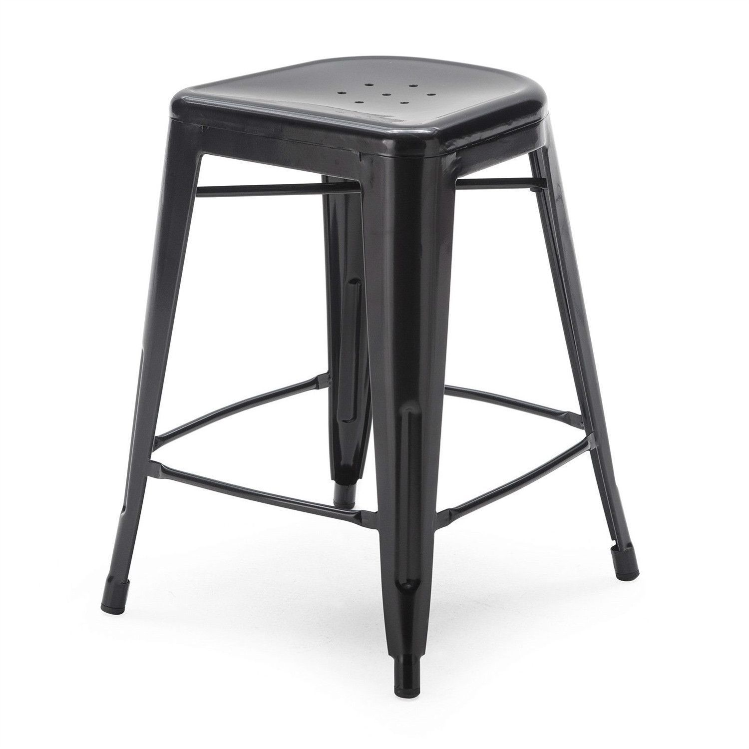 Set of modern inch black metal bar stools products