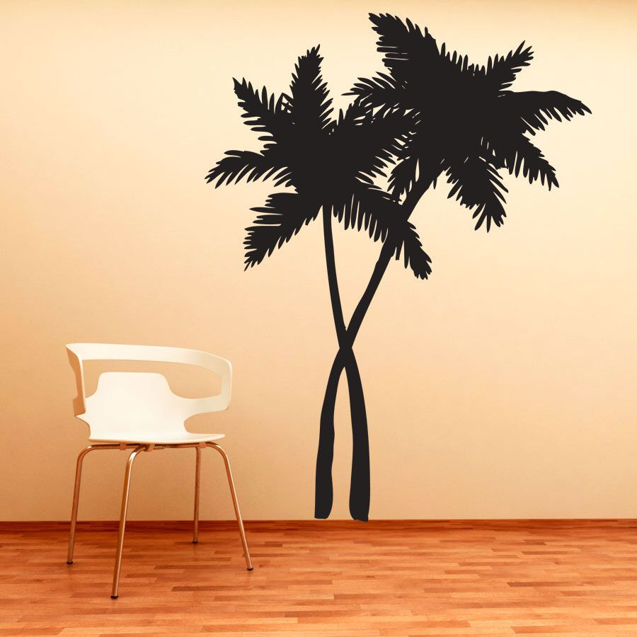 Swaying Palm Trees Vinyl Decal Wall Sticker - Tropical Wall Art ...