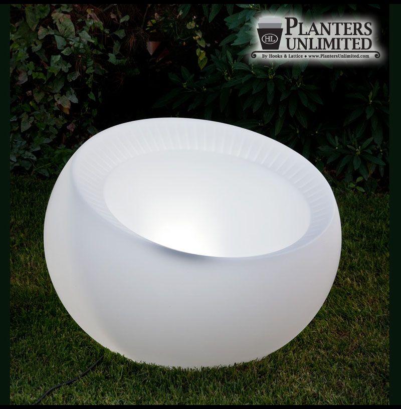 Pre Lit Polyethylene Planters Lighted Planters Translucent Sphere Planters Painted Pots Diy Glow