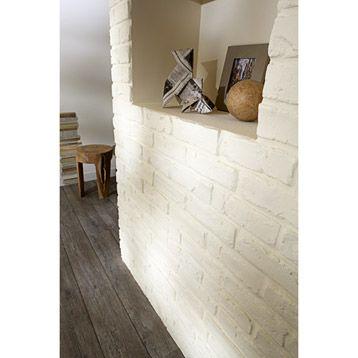 plaquette de parement briquette peindre pl tre blanc leroy merlin deco pinterest. Black Bedroom Furniture Sets. Home Design Ideas