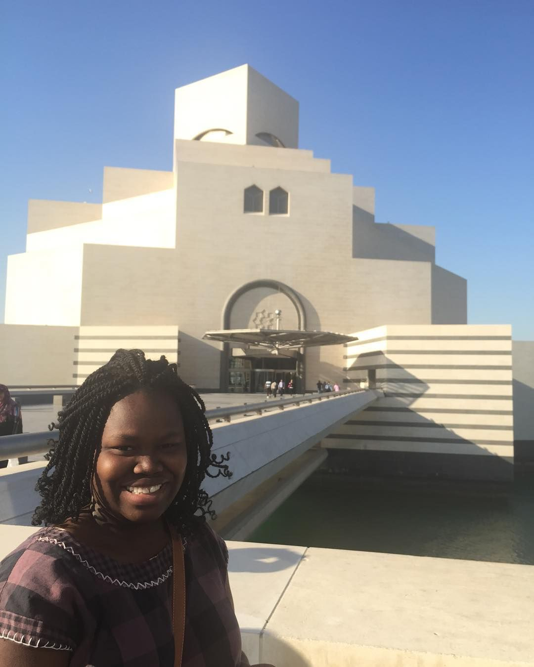 Our student in Qatar  visiting the museum of Islamic arts MIA #ispyapi #doha #qatar #studyabroad