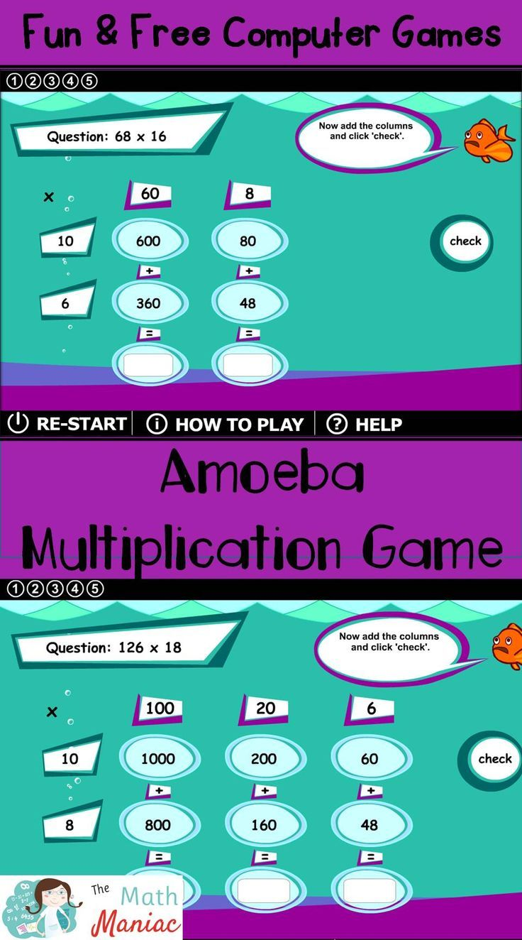 Love this fun & free math computer game! Uses the area model and ...