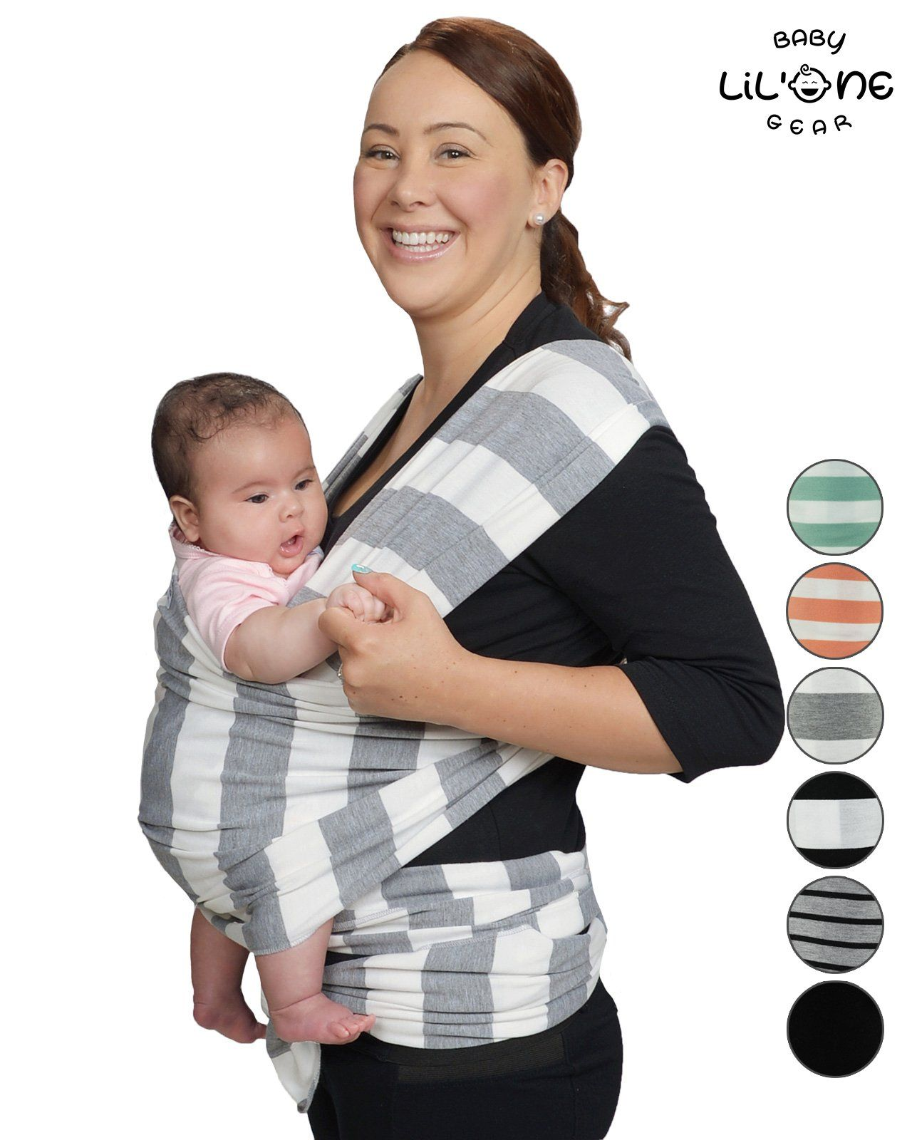 7cb1e58b73d Baby Wrap by Lil One Baby Gear Soft Breathable Cotton HandsFree Infant  Carrier Perfect Baby Shower Gift for Newborn 4in1 Baby Sling Baby Carrier  Wrap ...