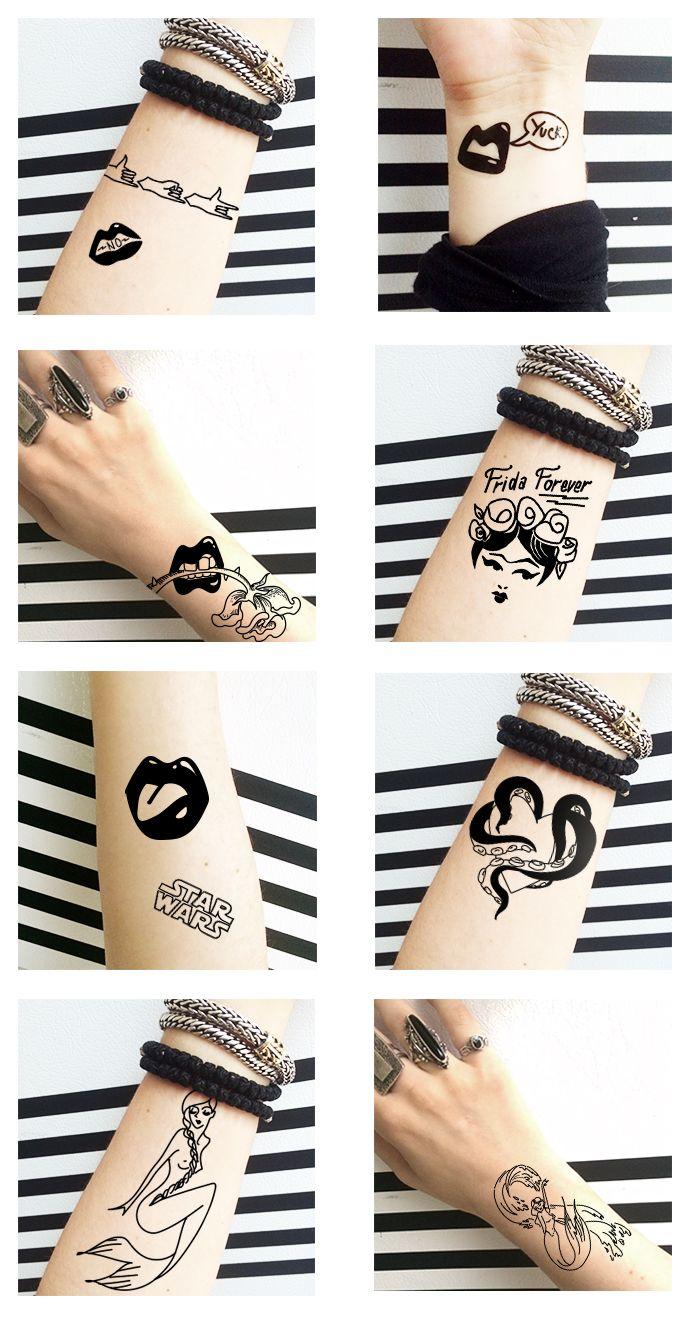 Biljana Kroll's Portfolio: Temporary Tattoo Designs: Mermaids, Lips, Frida Kahlo and more #tattoo #temporarytattoos #mermaidtattoo