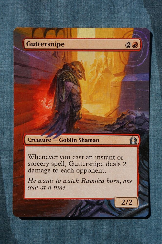 Guttersnipe Magic MTG Return to Ravnica Hand Painted Altered