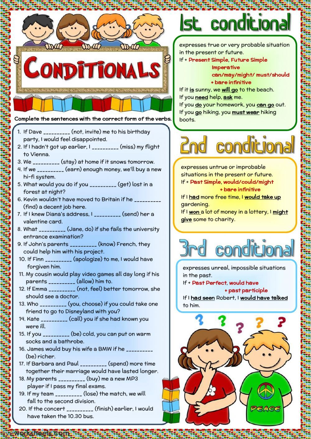 Conditional Sentences Interactive And Downloadable Worksheet You Can Do The Exercises Online Or Downl English Grammar Learn English English Grammar Worksheets [ 1413 x 1000 Pixel ]