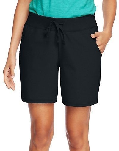 279e72436e Hanes Women's Cotton Jersey Shorts with Pockets - 4 COLORS - Size S-2XL # Hanes #BermudaWalking