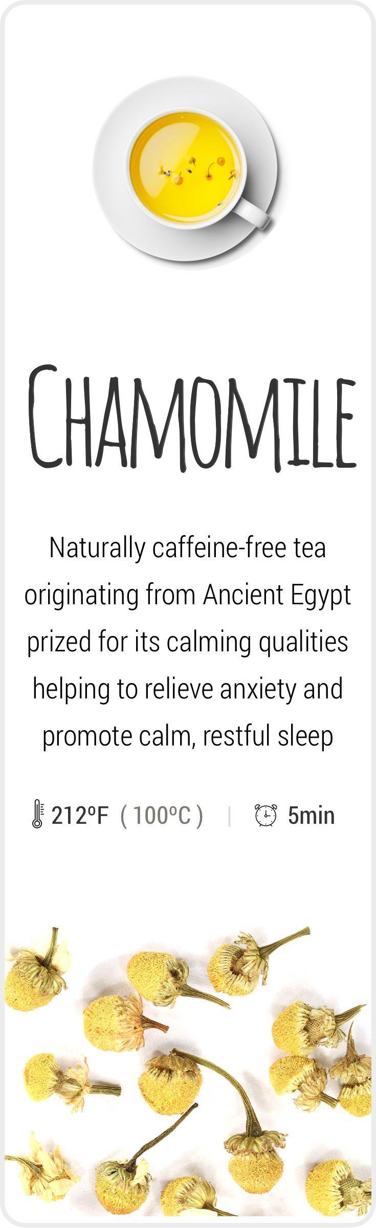 Chamomile in 2019 Chamomile tea, Caffeine free tea, Tea