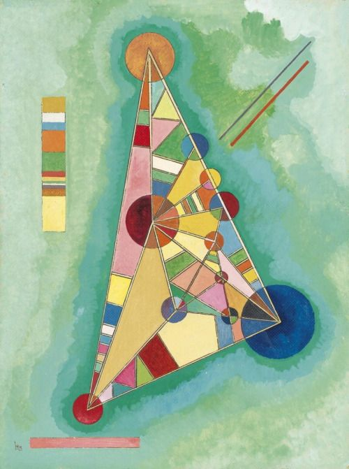 vangoghld:  Wassily KandinskyMulti Colored Triangle, 1927Oil on... #Impressionism #Art #Impresionismo #Impressionismus #Impressionnisme #印象主義 #Импрессионизм  - http://wp.me/p7Gh1Z-1OP #kunst #art #arte #sztuka #ਕਲਾ #konst #τέχνη #アート