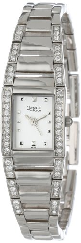 Caravelle by Bulova Women's 43L57 Crystal Accented Silver and White Dial Watch - http://www.specialdaysgift.com/caravelle-by-bulova-womens-43l57-crystal-accented-silver-and-white-dial-watch/