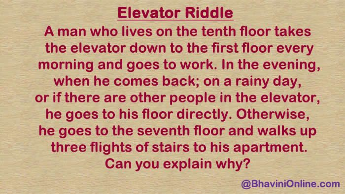 Whatsapp Riddle: The Famous Elevator Puzzle | Riddles | Riddles with