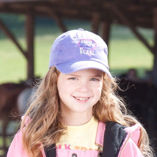 Girl's My Horse Is My Heart Cap