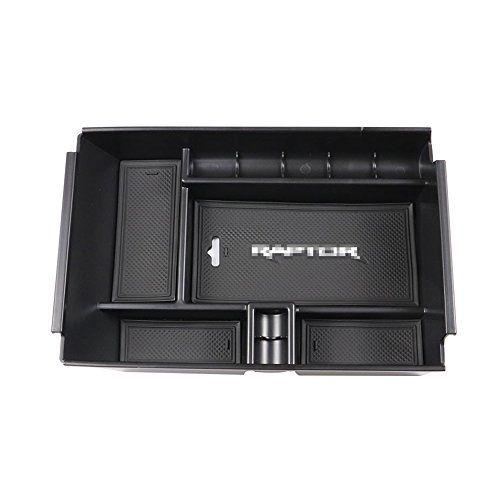Autou Black Center Console Armrest Storage Box Organizer
