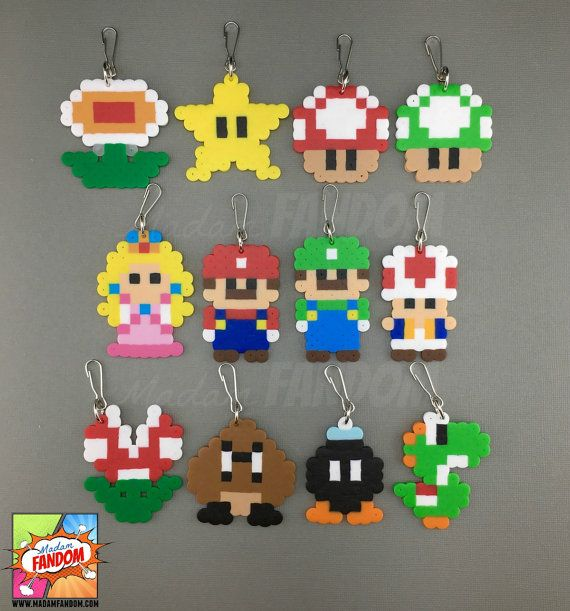 12 Super Mario Party Favors Zipper Pulls – Super Mario Wedding Favors – Drive Thru Party Gifts – Mario Bros Birthday Supplies