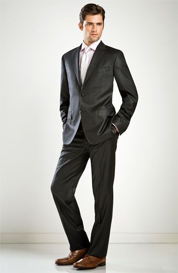 51933ec9 Versace Collection Trim Fit Charcoal Suit | dressing m | Charcoal ...