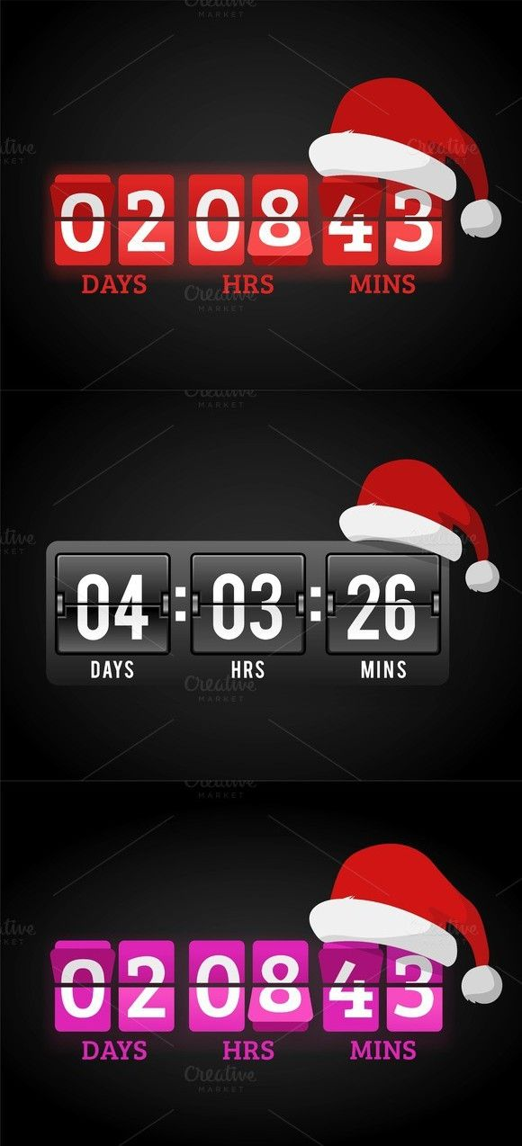 Christmas Clock Timer Vector Timer Clock Christmas Clock Timer
