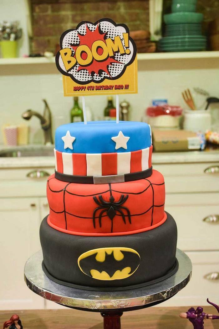 Superhero Themed 4th Birthday Party Via Karas Ideas The Cake