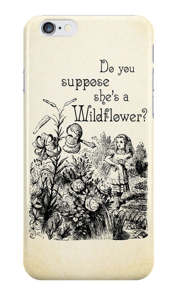 Alice in Wonderland Quote - She's a Wildflower - 0113 by ContrastStudios