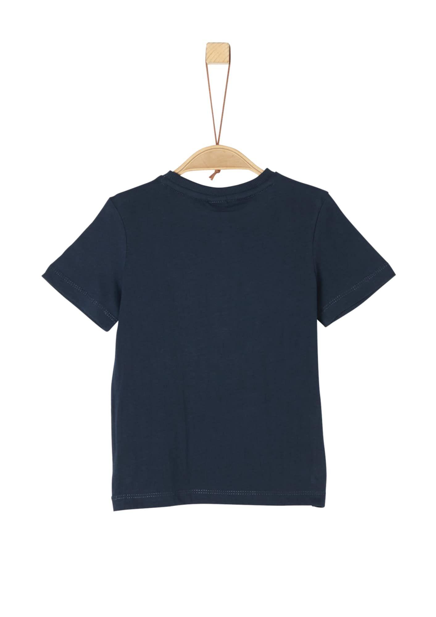 S Oliver Junior T Shirt Jungen Nachtblau Mischfarben Grosse 140 Shirts Nachtblau