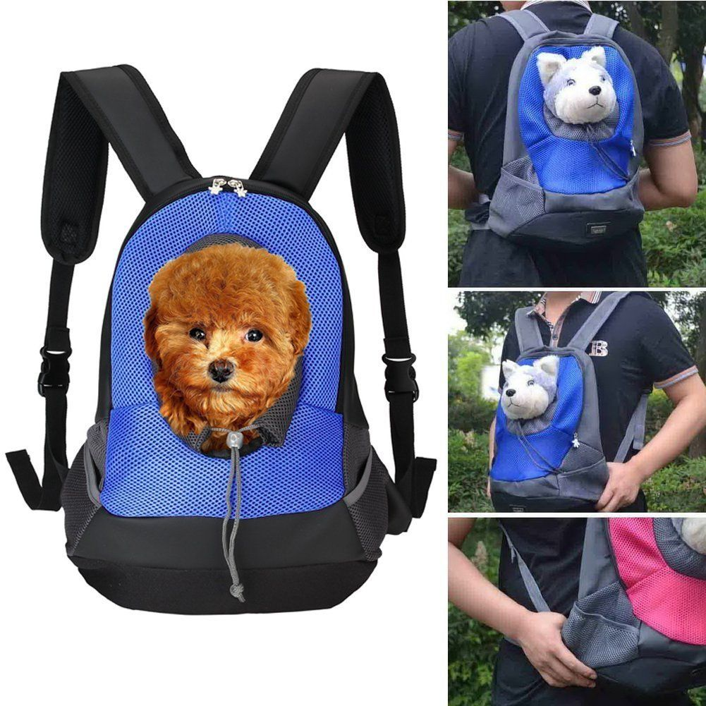 Qumy Pet Carrier Backpack Dog Travel Bag Back Front Pack Carrying