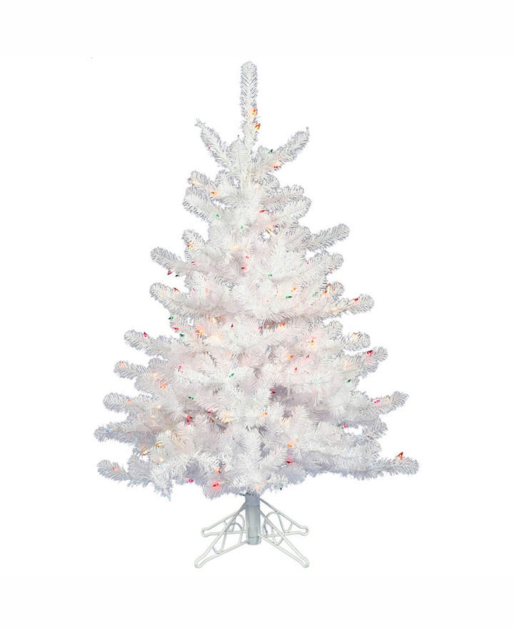 Vickerman 2\u0027 Crystal White Spruce Artificial Christmas Tree With 50