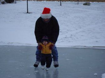 Easy and Inexpensive Ice Rink | Ice rink, Backyard ice ...