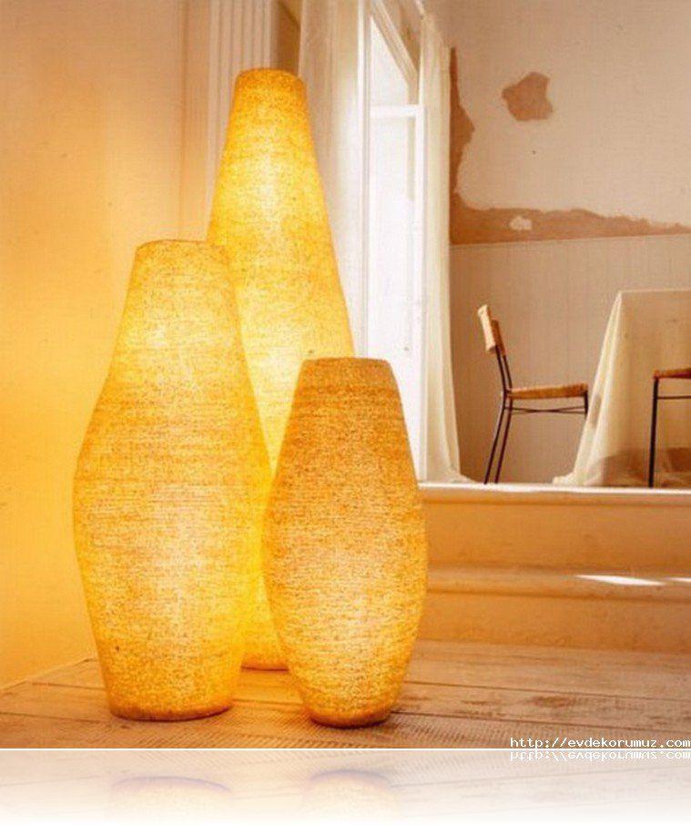 Dekoratif Şık Lambader Modelleri | ev dekor | Pinterest