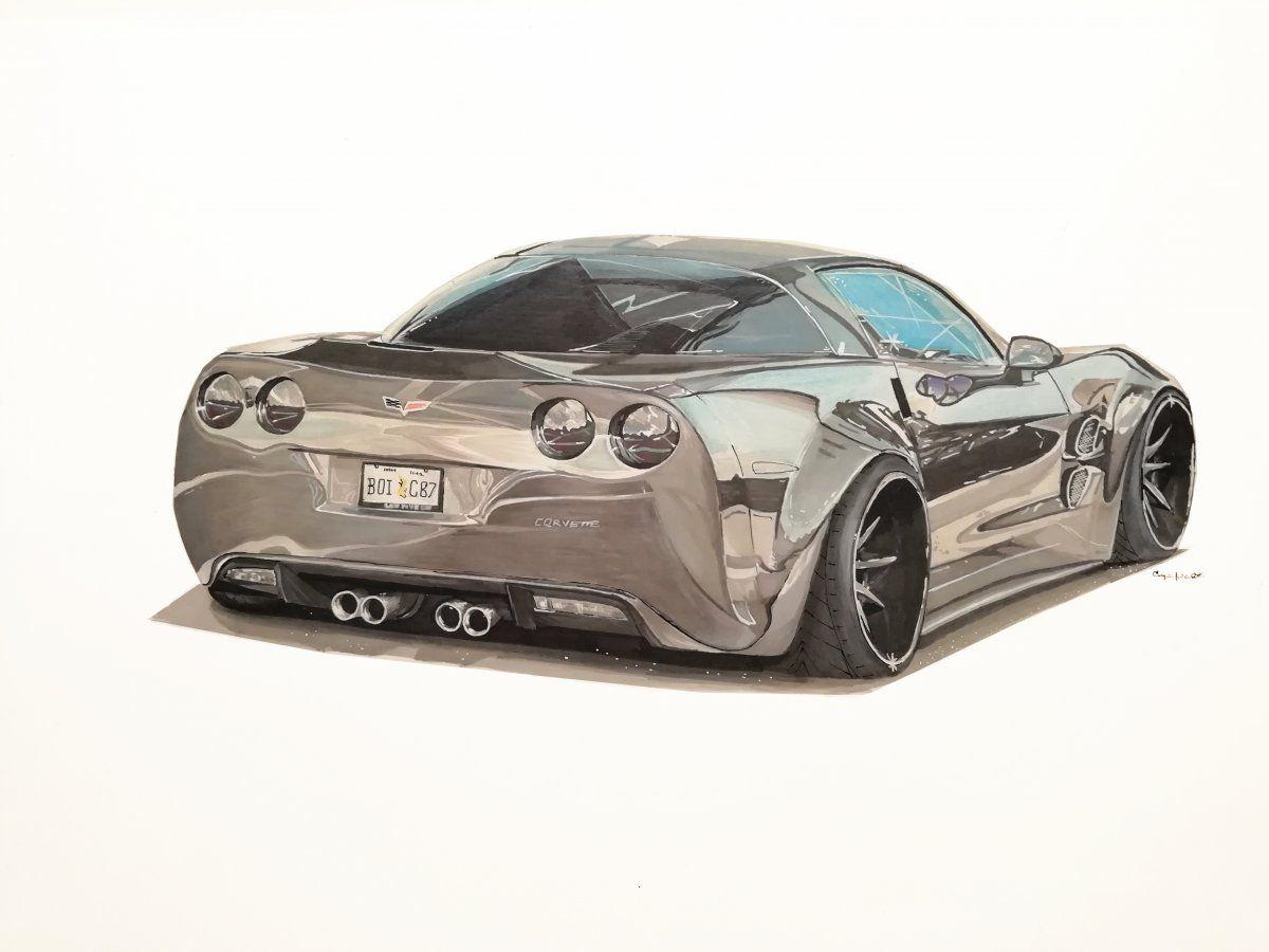 Corvette Drawing Corvette Car Drawings Drawings