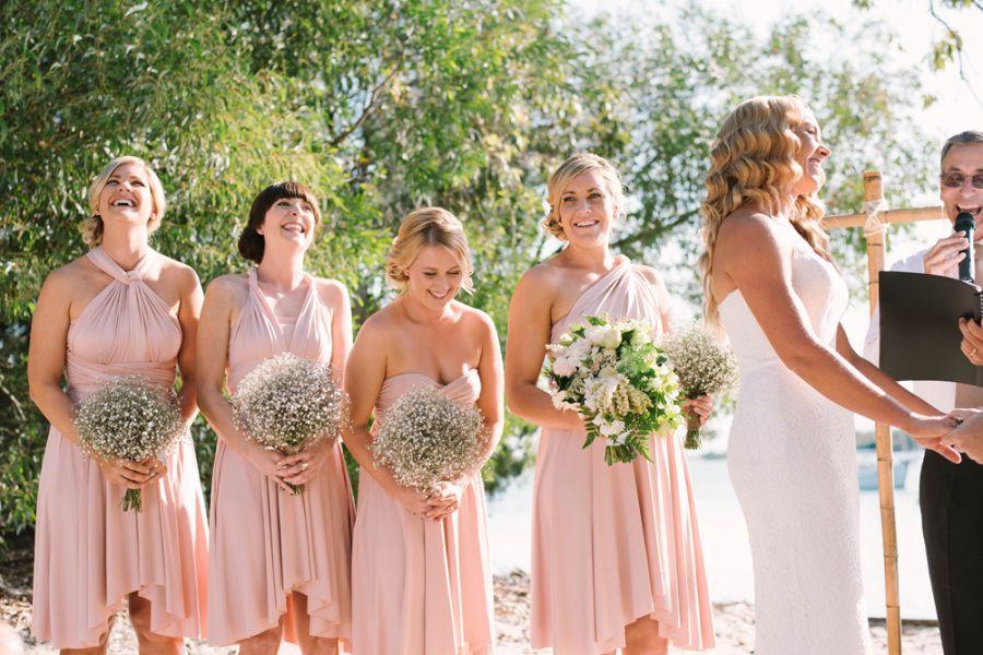 Elegant Beach Wedding on Stradbroke Island Wedding
