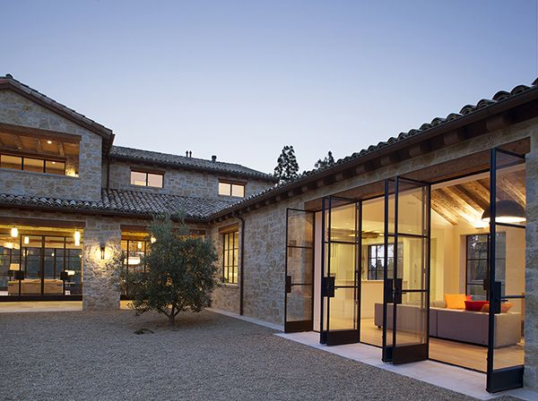 Photo of French country inspired farmhouse in California: Stone Maison